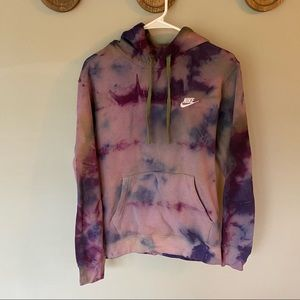 Nike Tie dye oversized hooded sweatshirt sz small